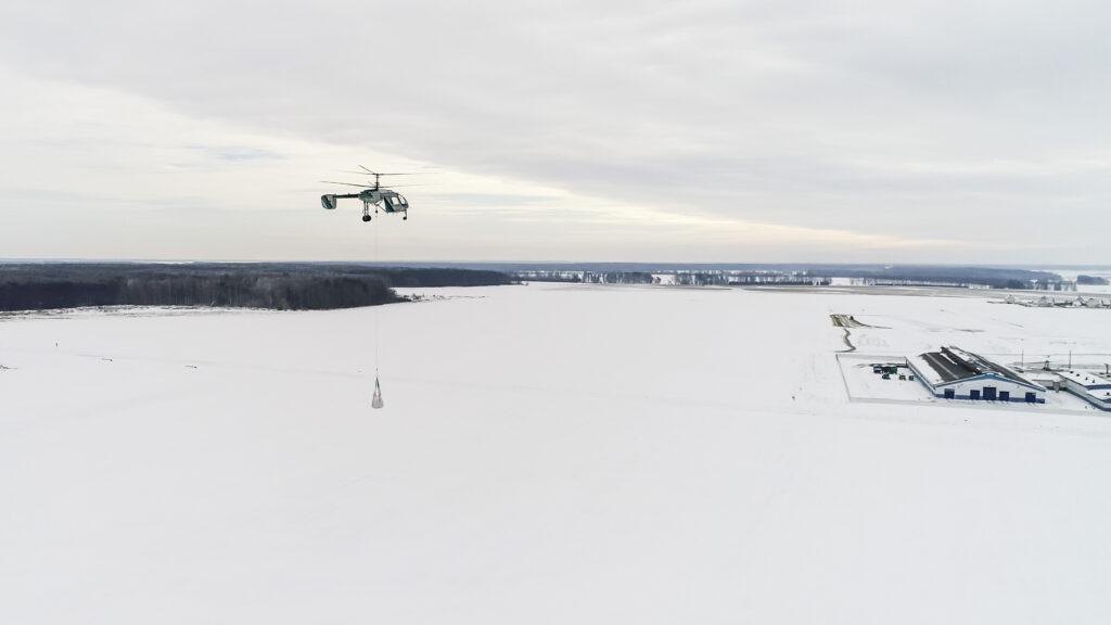 Беспилотный вертолет с грузом 750 кг (включая топливо)